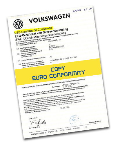 We issue the European Certificate of Conformity for the following car and motorcycle brands