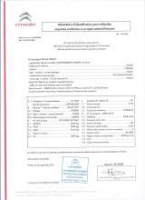 Citroen Certificate of Conformity