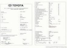 Toyota certificate of conformity Toyota