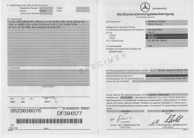Mercedes certificate of conformityv Mercedes