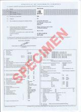 Peugeot  certificate of conformity