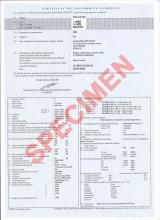 What is the Peugeot Certificate of Conformity used for
